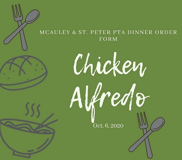 McAuley & St. Peter PTA Dinner Order Form