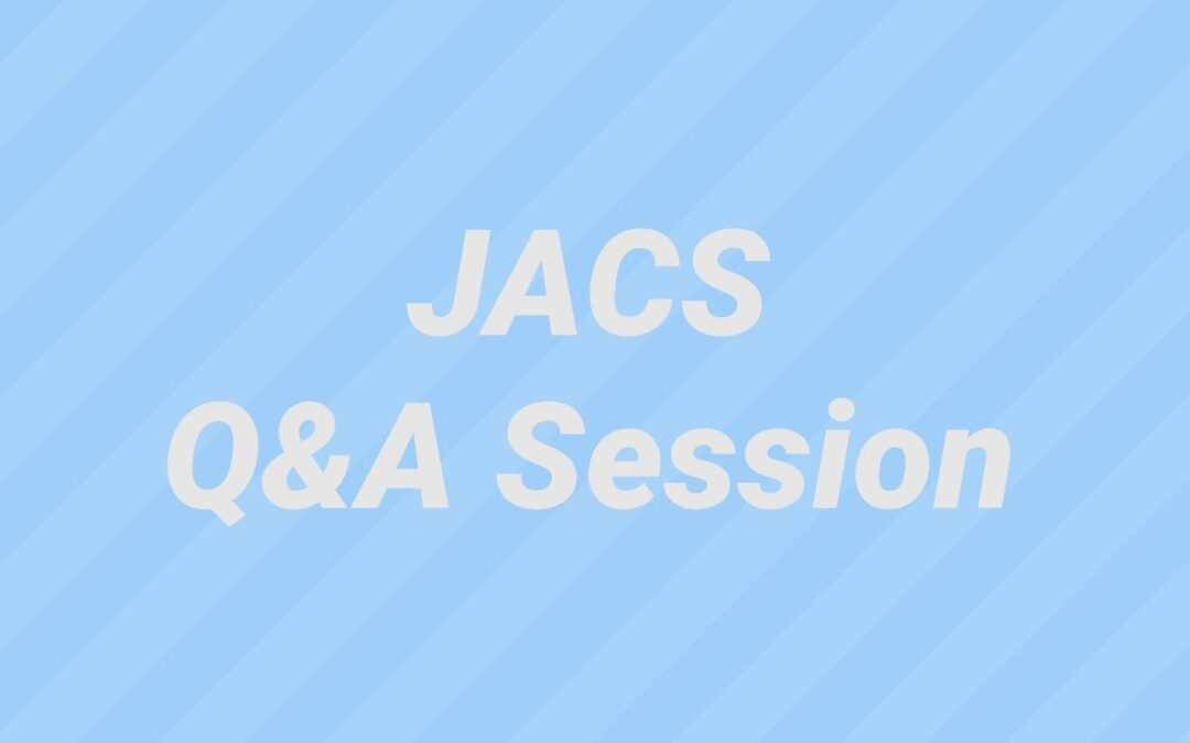 JACS Question and Answer Session