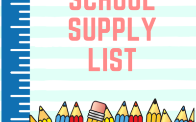 St. Mary's School Supply List 2019-2020
